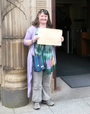 Handing in 38 Degrees Petition