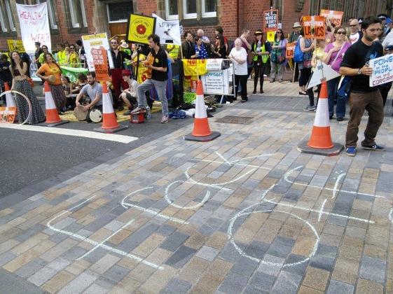 Protestors 23 June